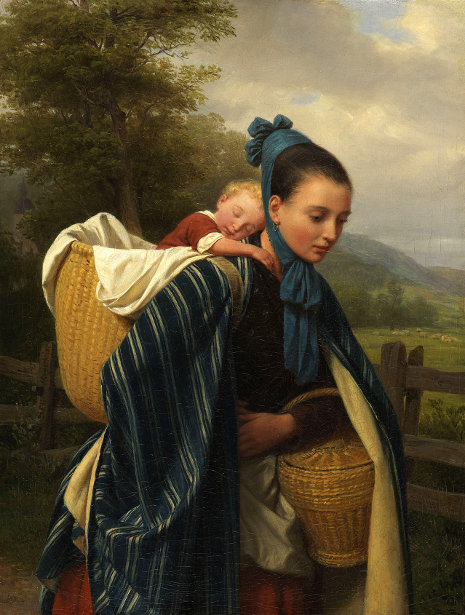 Girl From The Harz Mountains With Child