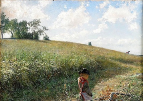 Girl On Summer Field