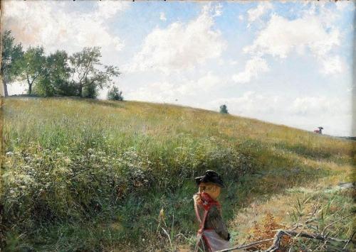 Girl On Summer Field