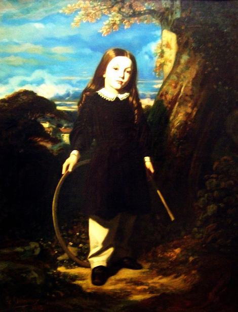 Jeune garçon au cerceau