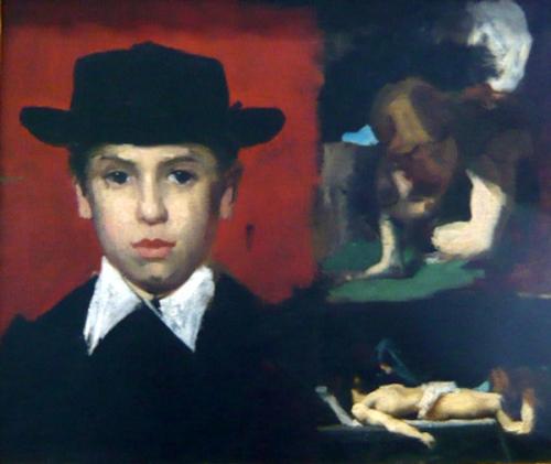 Jules Henner, son neveu, dans l'atelier
