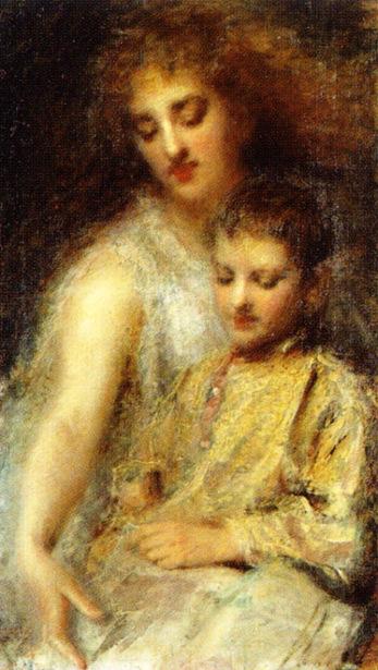 La principessa Ada Troubetzkoj con il figlio Luigi