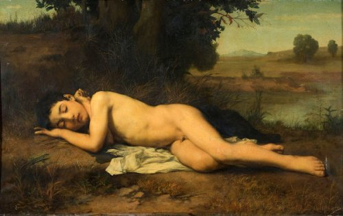 Le jeune baigneur endormi