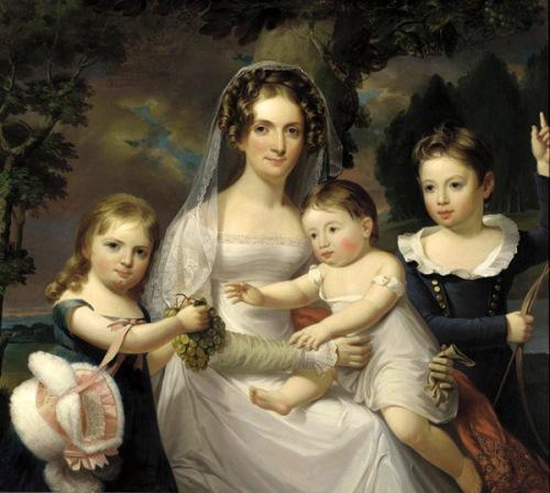 Mrs. Elizabeth Wurtz Elder And Her Three Children