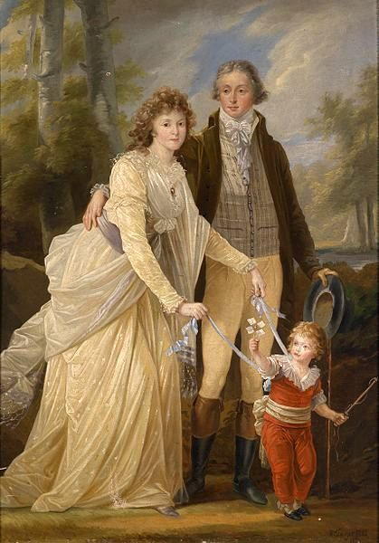 Prince Karl of Lichtenstein With His Wife Maria Anna Josepha And Their Son Karl