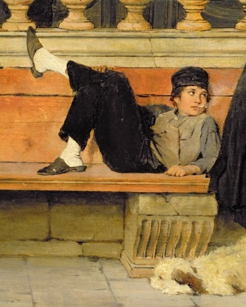 St. Mark's Venice (detail of A Boy Smoking)