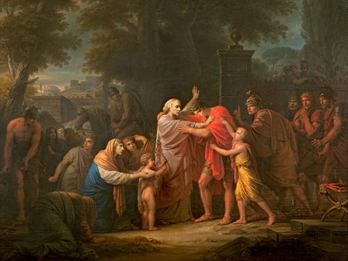 Veturia Asks Coriolanus To Spare Rome