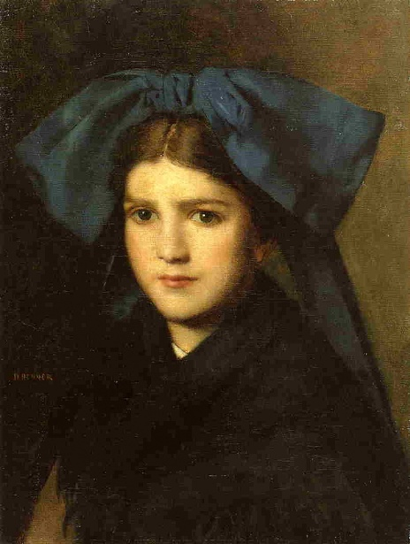 Young Girl With A Bow In Her Hair