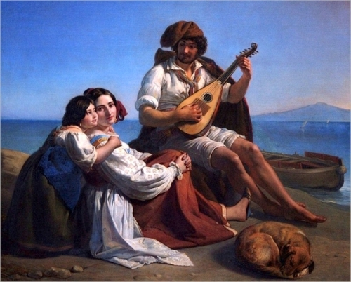 A Musician On The Neapolitan Coast