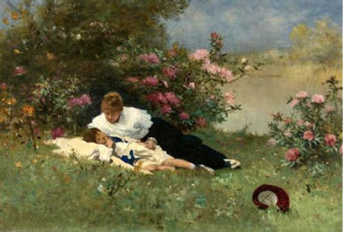 At Rest Among The Flowers
