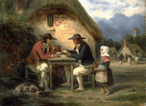 Bretons jouant à cartes