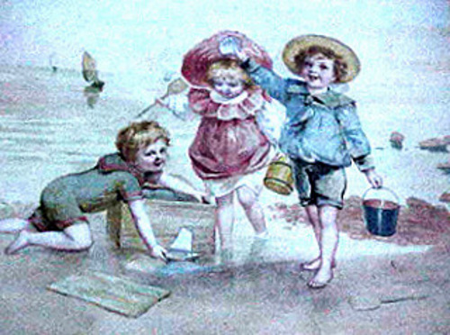 Children On The Sea Shore