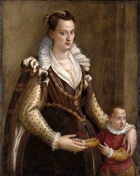 Eleonora de' Medici, Duchess Of Mantua, With Her Son Francesco IV
