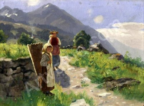 Girl In The Mountains