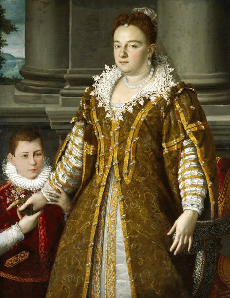Grand Duchess Bianca Cappello de Medici With Her Son