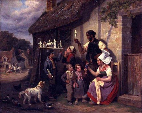 Le marchand de platres ambulant colporteur de figurines napoléoniennes