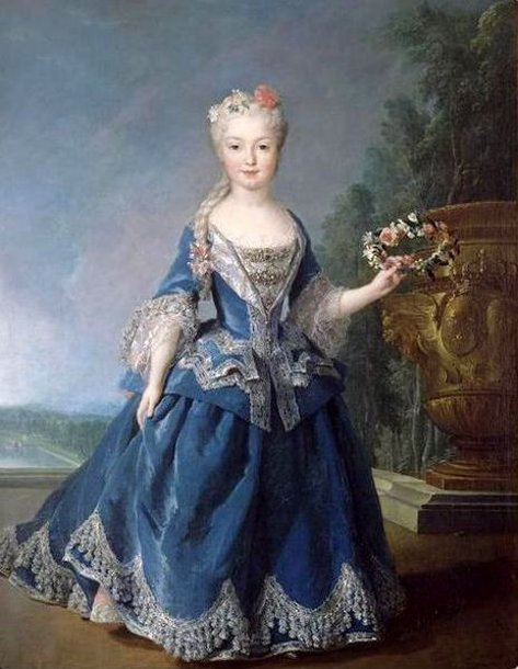 Mariana Victoria Of Spain (At The Age Of 7)