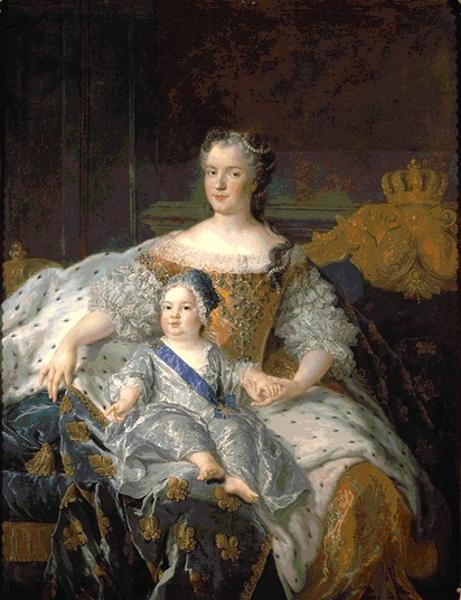 Marie Leszczynska, reine de France, et le dauphin Louis de France