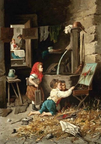 Francesco Bergamini 1815 1883 Italian