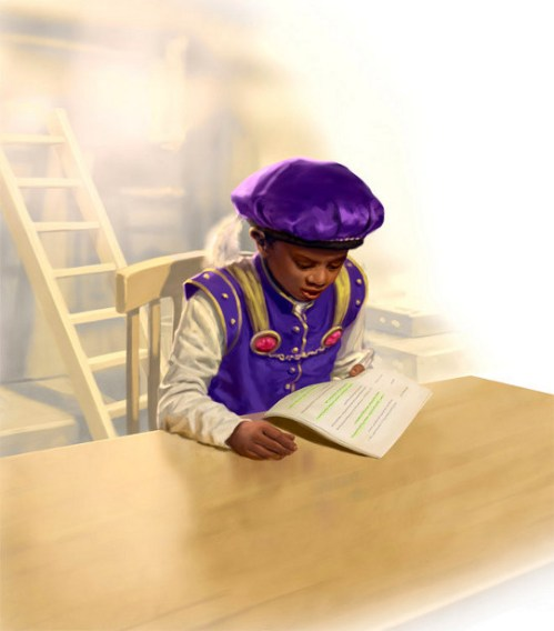 Prince Studying Script