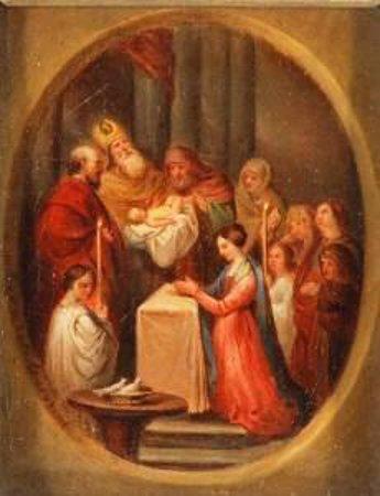 Scena di battesimo