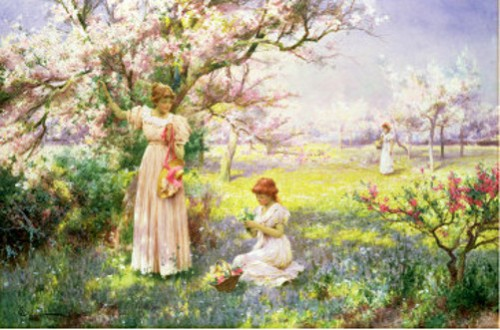 Spring, Picking Flowers