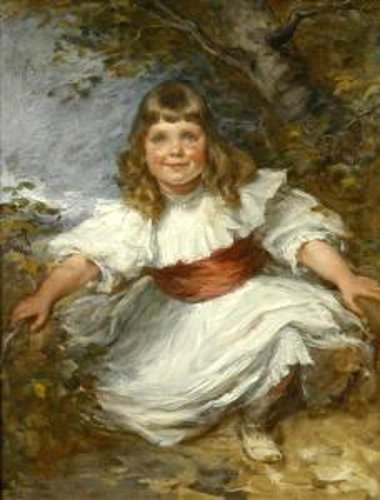 Study of A Young Girl In A Woodland Setting