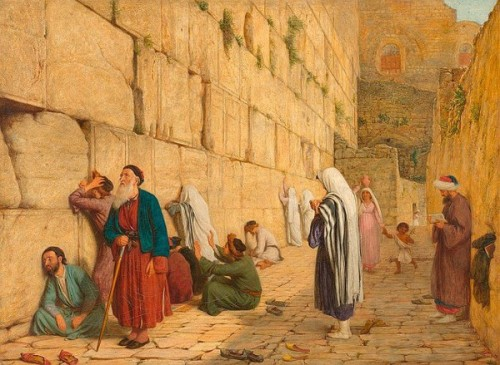 The Wailing Wall In Jerusalem (1863)