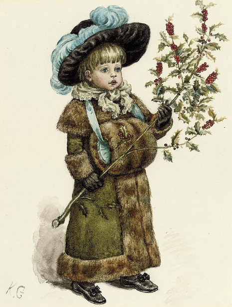 A Young Girl Dressed Up For Christmas