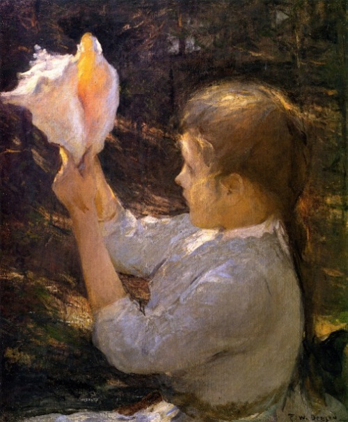 Child With A Seashell