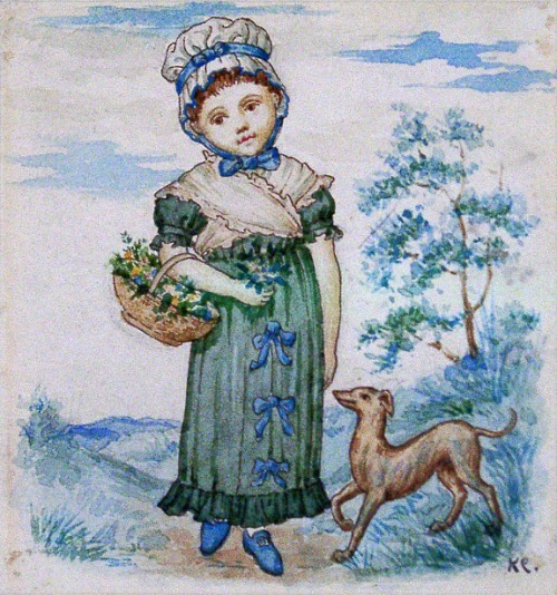 Child with Dog (Illustration Little Folks magazine)