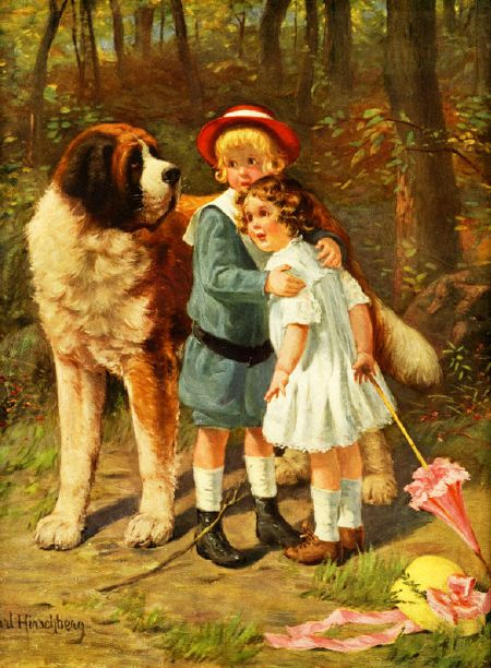 Children And St. Bernard