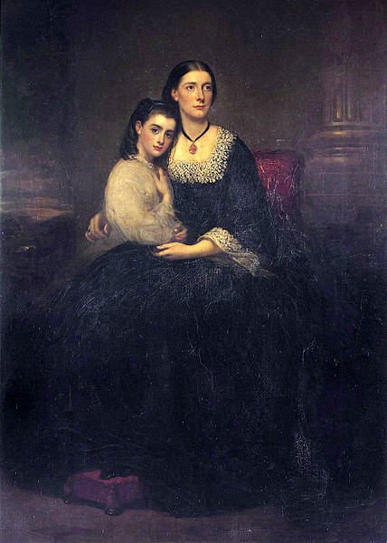 Emily, 1st Viscountess Hambleden, And Her Daughter