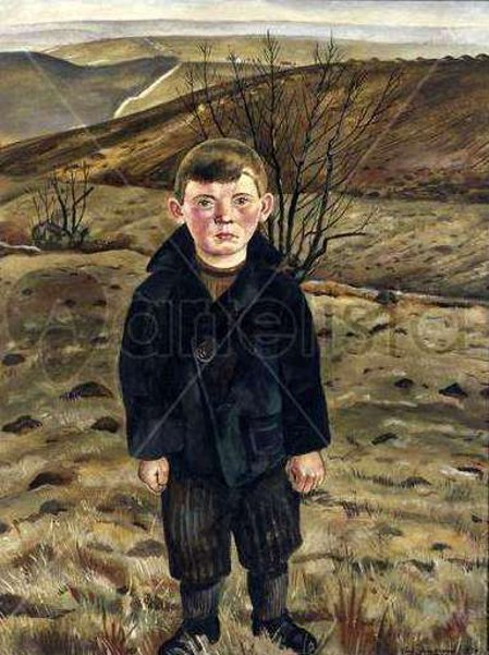 Farm Boy In A March Landscape