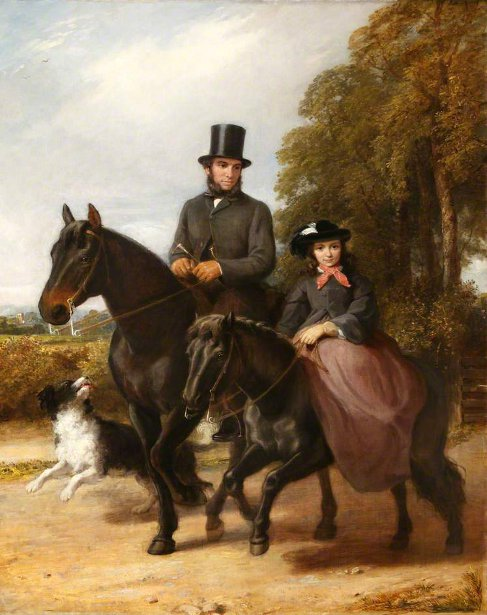 George Ward And His Daughter Fanny Riding