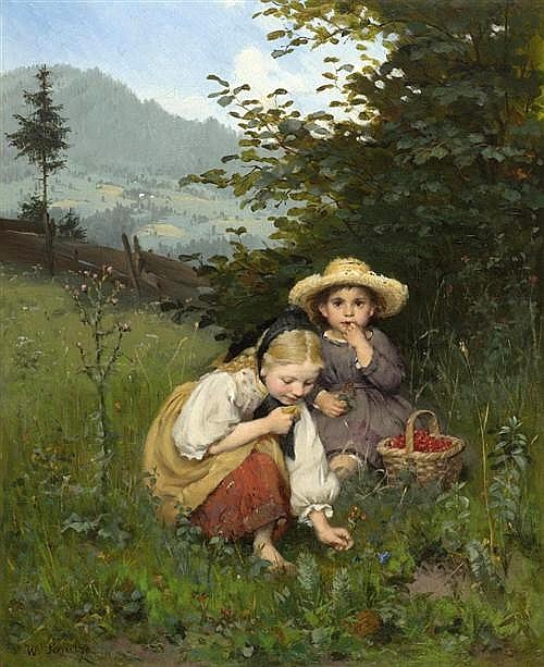 Girls Plucking Berries