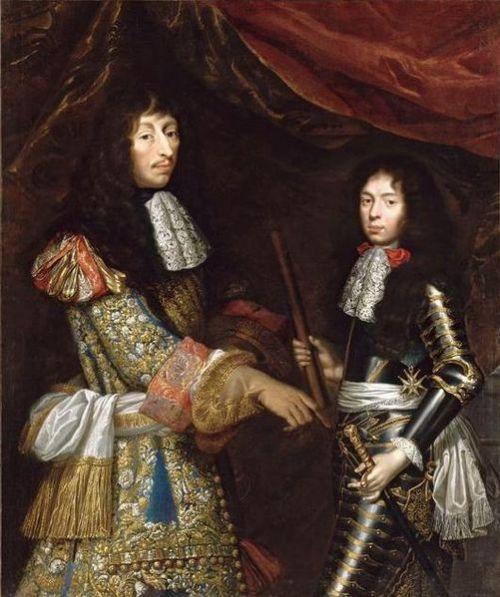 Louis de Bourbon, prince de Condé, et son fils ainé Henri Jules de Bourbon, duc d'Enghien