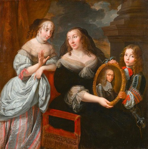 Maria de Medici Shows Her Two Children The Portrait Of her Dead Husband, King Henri IV
