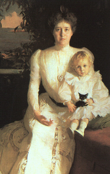 Mrs. Benjamin Thaw And Her Son