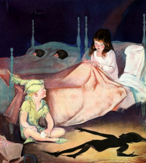 Peter Pan And Wendy Talking At Night