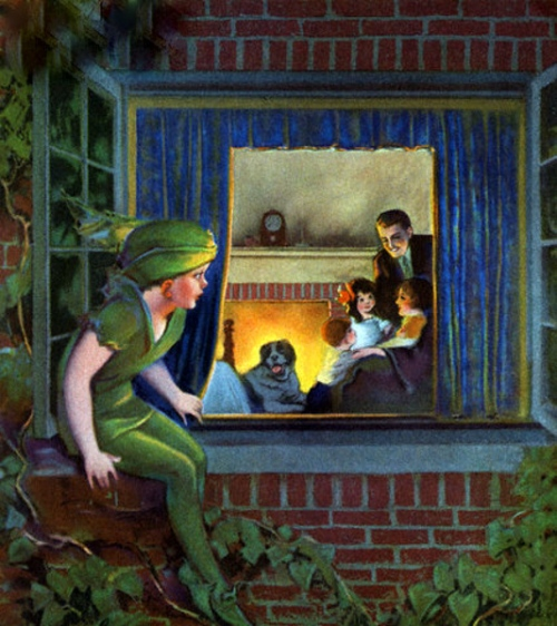 Peter Pan Watching The Happy Family