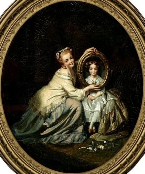 Portrait Of A Mother And Daughter