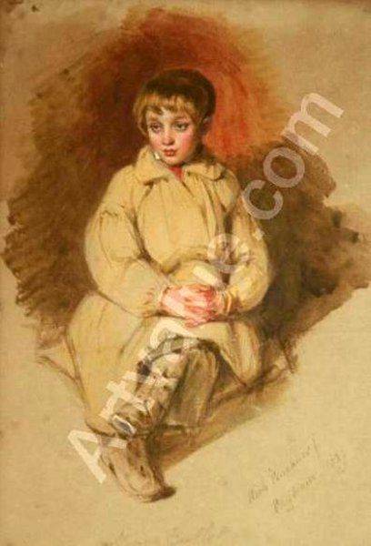 Portrait Of A Seated Boy, Henry Bartlett