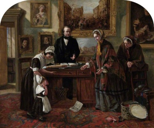 The Foundling Restored To Its Mother - The Adoption
