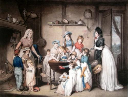 The Sailor's Orphans (print engraved by Robert Dunkarton & William Ward)