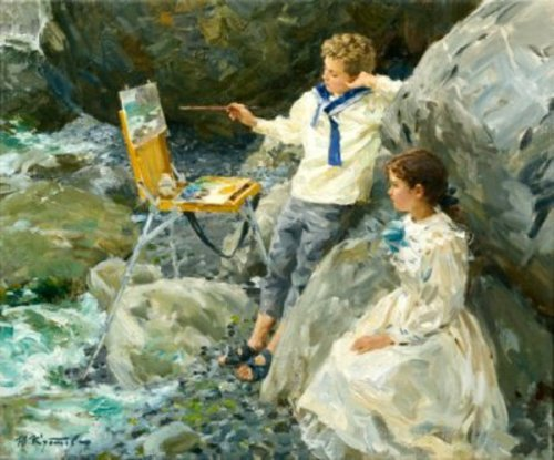 Young Painter And Admirer