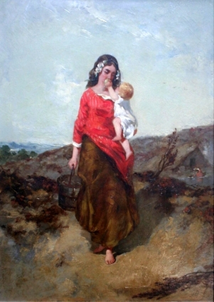 A Country Mother And Child