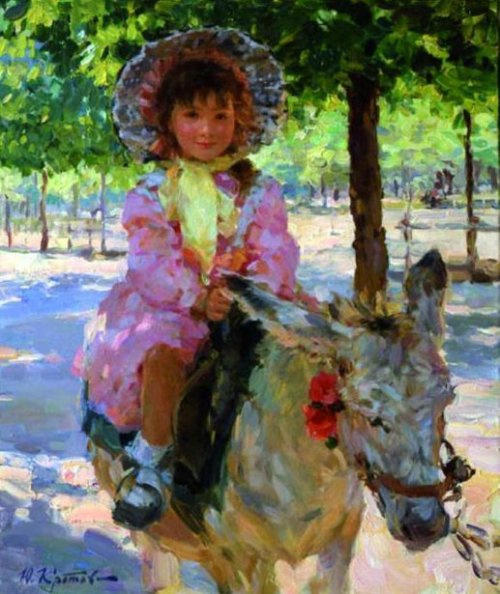 A Girl On The Donkey