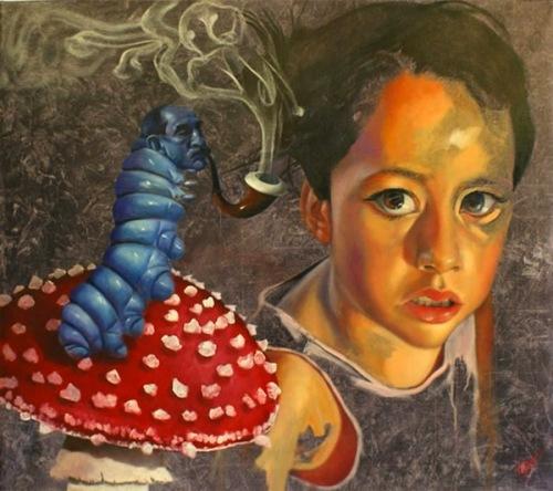 Alicia y la Oruga Azul
