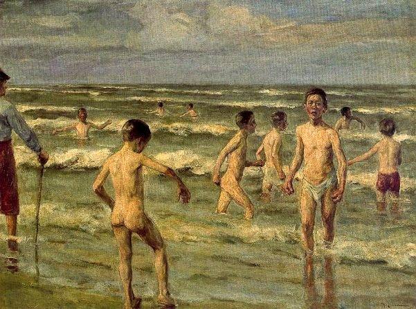 Max Liberman - Page 2 Boys-bathing-2